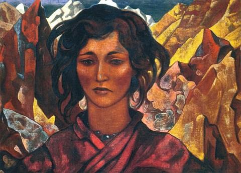 jenskii_portret_na_fone_pestryh_skal_1932