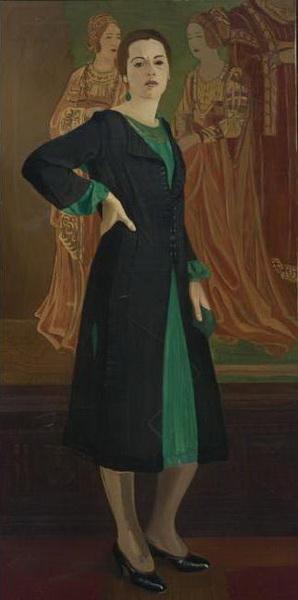 portret_ketrin_kempbell_v_zelenom_plate_1920-e